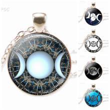 Ювелирные изделия Тройная богиня луны Серебряная цепочка Ожерелье