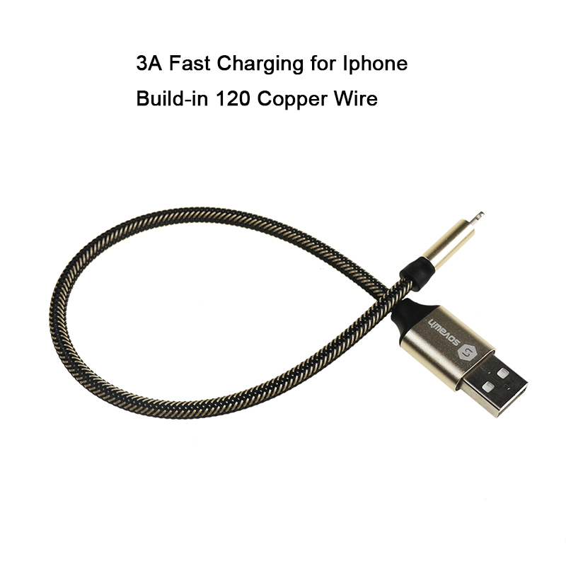 Sovawin 8Pin USB Fast Charging 3A 120 Copper Wire Short Data ...