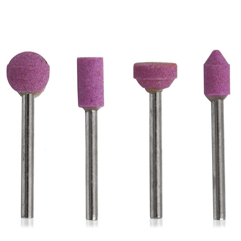 Juego de 7 piezas de piedra de montaje abrasiva para Dremel, herramientas giratorias, rectificadoras de piedra, cabezal de rueda, accesorios de herramientas Dremel