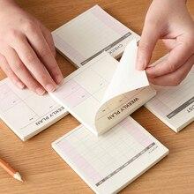 Милый кавайный Еженедельный Ежедневник для работы, дневник, ежедневник для детей, школьные принадлежности