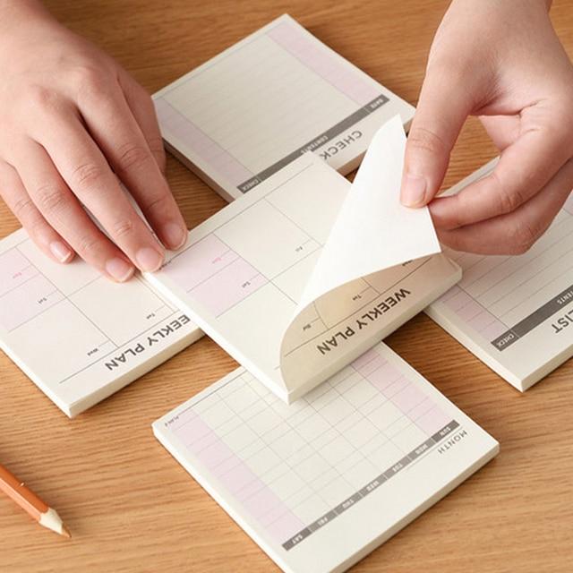 Kawaii еженедельно ежемесячно планировщик работ Книга Дневник повестки дня dokibook для детей школьные принадлежности Бесплатная доставка
