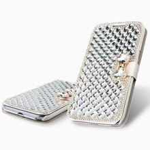 Luxury Bling Crystal & Diamond Leather Flip Bag For IPhone4S 5S 5C 6S/6P 7/7P For SamsungS3 S4 S5 S6E S6E+ S7E S8 S8P Case Cover