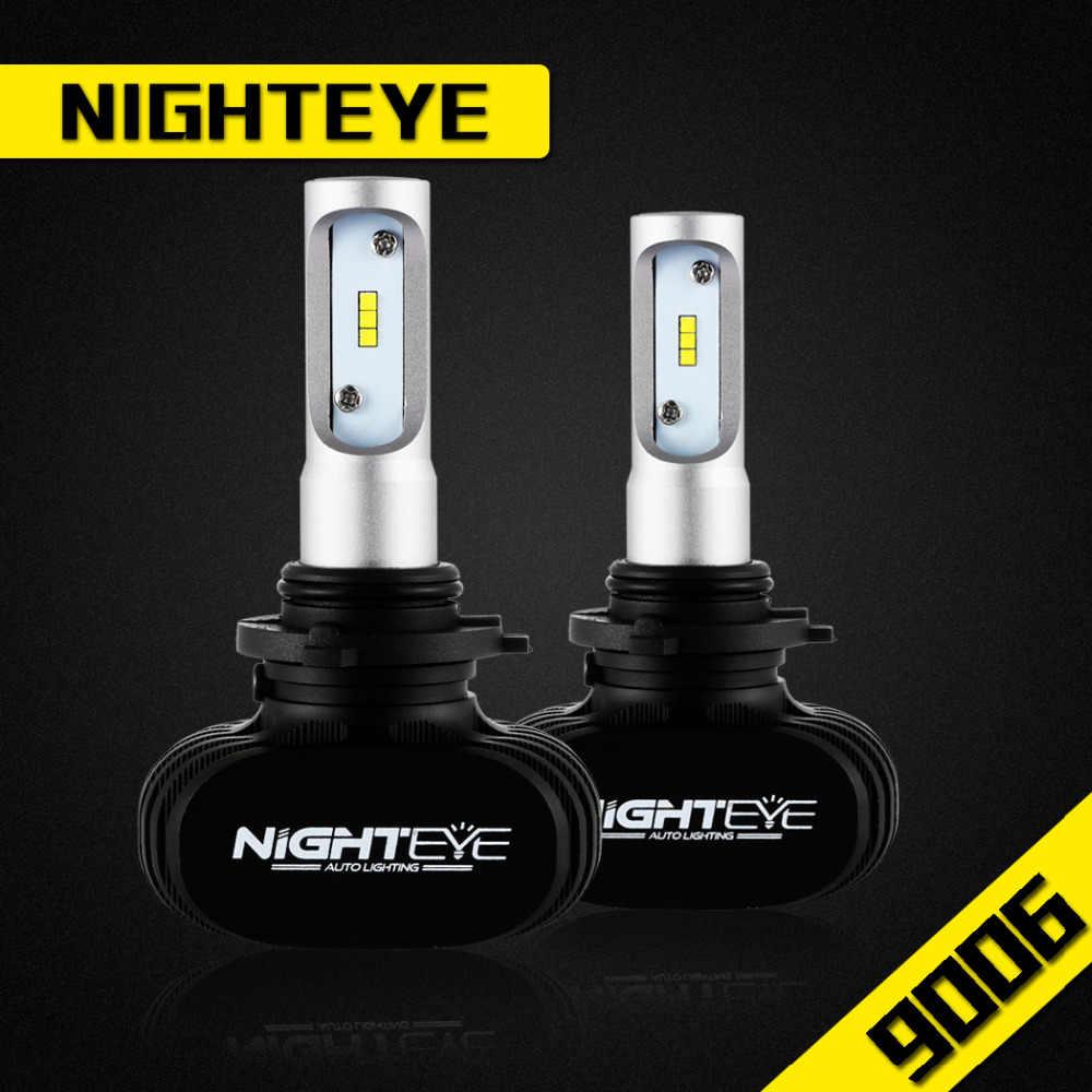 NIGHTEYE 12V 9006 Car LED Lights 6500k Automobiles Headlight Auto Lamp Bulbs 50w 8000lm Kit For Auto Car Headlight