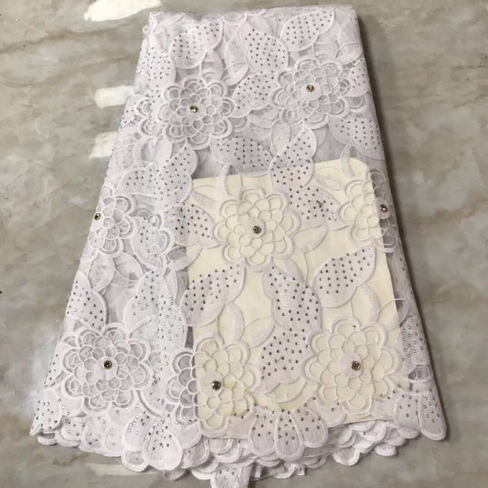 Nigerian Flower Lace Fabrics 2019 High Quality White Tulle African Laces Fabric Wedding French Tulle Lace Material With Stone 30Nigerian Flower Lace Fabrics 2019 High Quality White Tulle African Laces Fabric Wedding French Tulle Lace Material With Stone 30