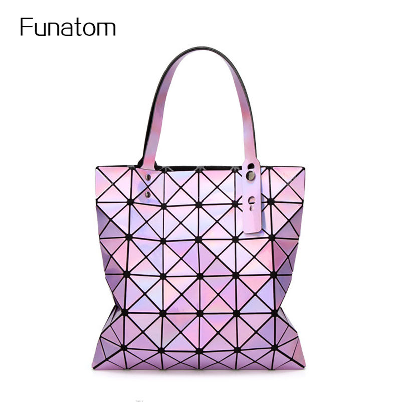 Bao bao Multicolor laser Geometric Women Bags Diamond Patchwork Women Shoulder Bag Portable tote handbag BAOBAO bag rainbow magic rubik s cube tote diamond geometric bao bao high capacity handbag bags women colorful plaid mosaic shoulder bag