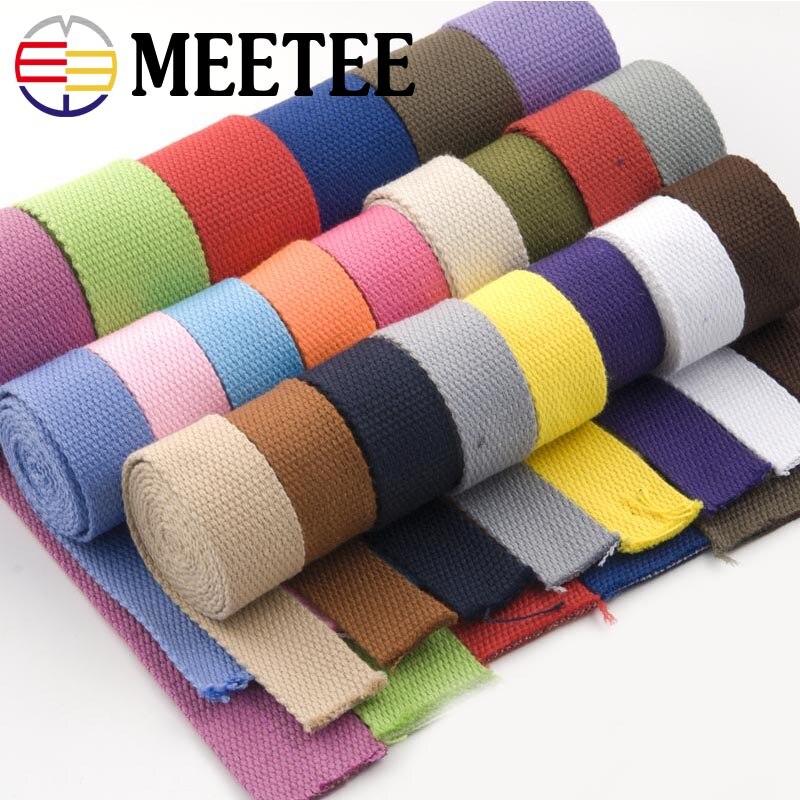 8Yards 20mm Canvas Cotton Webbings 1.5mm Thick High Tenacity Backpack Strap Webbing Ribbon Clothes Bag Sewing Tape Bias Binding