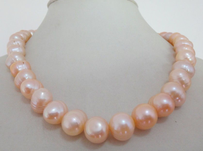10-12mm naturel Akoya mer du sud rose collier de perles 18
