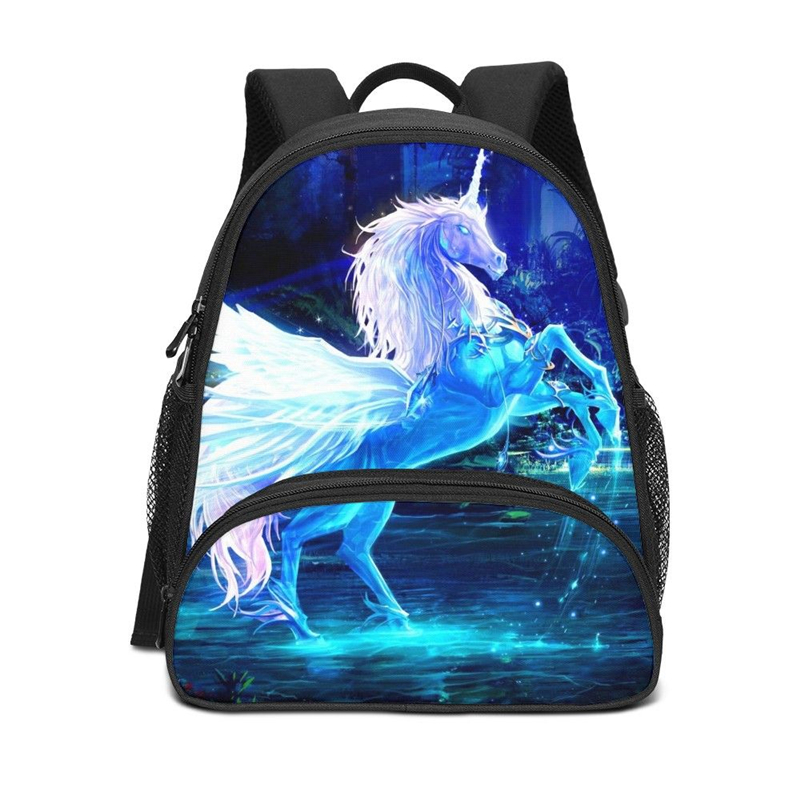 Mini Backpack For Boys Girls Cool Animal Horse Unicorn 3D Printing Bookbag Kids School Bag Plecak Rugzak Satchel Mochila Escolar(China)