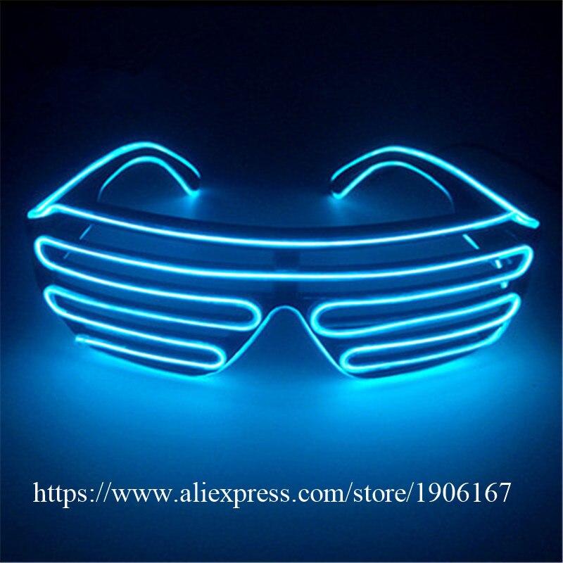Groothandelsprijs El Draad Party Zonnebril Kleurrijke LED ...