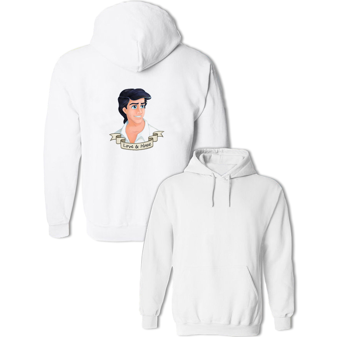 Cartoon Prince Eric Design Hoodie Mens Womens Boys Girls Sweatshirt Multi Color Cotton Pullovers Spring Autumn Winter Tops