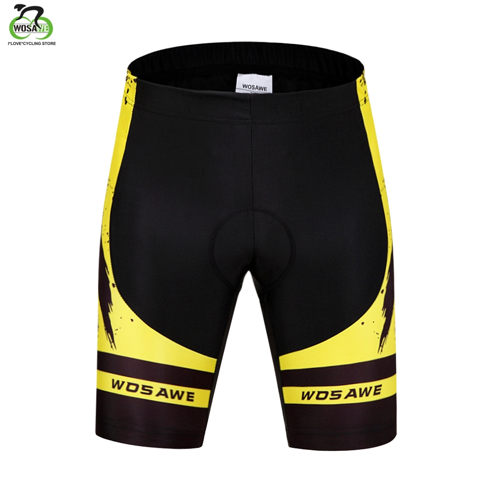 WOSAWE Cycling Shorts Men Tight Anti-Slip Bicycle 3D Gel Padded Ciclismo Mujer MTB Shorts Downhill Riding Mountain Bike Shorts