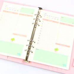 الصيف لطيف سلسلة دفتر أوراق حشو A5/A6 اللون النواة الداخلية مخطط داخل الصفحة هدية القرطاسية