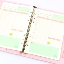 الصيف لطيف سلسلة دفتر حشو أوراق A5/A6 اللون الداخلية الأساسية مخطط داخل الصفحة هدية القرطاسية