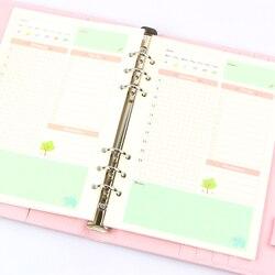Verão Bonito Notebook Série Filler Papers A5/A6 Cor presente Papelaria Planejador Dentro Da Página do Núcleo Interno