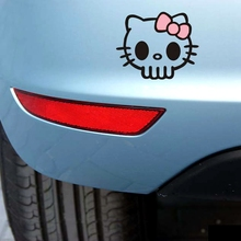 Foreign Trade Explosion Models Cute Cartoon Cat Funny Skull Car Random Sticker Pink Section JSD-1215