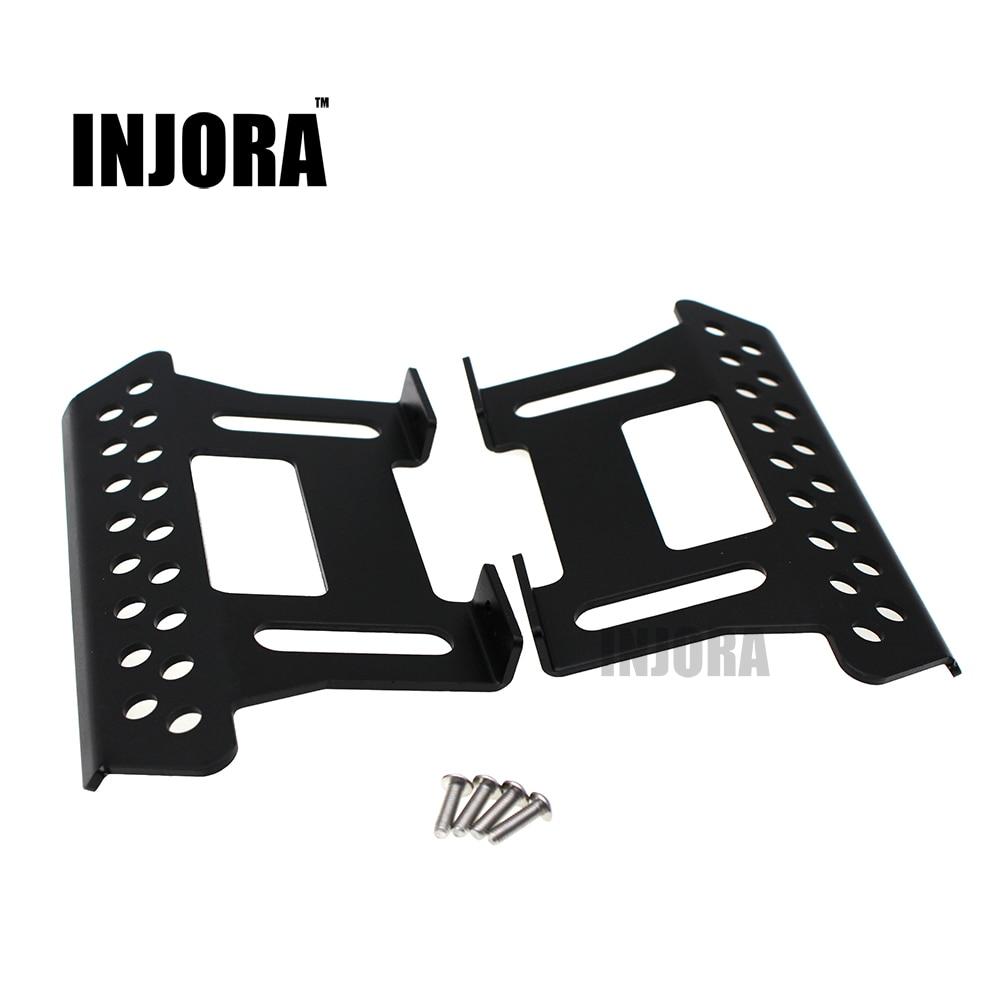 INJORA 2Pcs Metal Side Pedal Plate for 1/10 Axial SCX10 RC Crawler C Parts injora 2pcs 90mm metal shock absorber for 1 10 rc crawler axial scx10 rc4wd d90 tamiya cc01