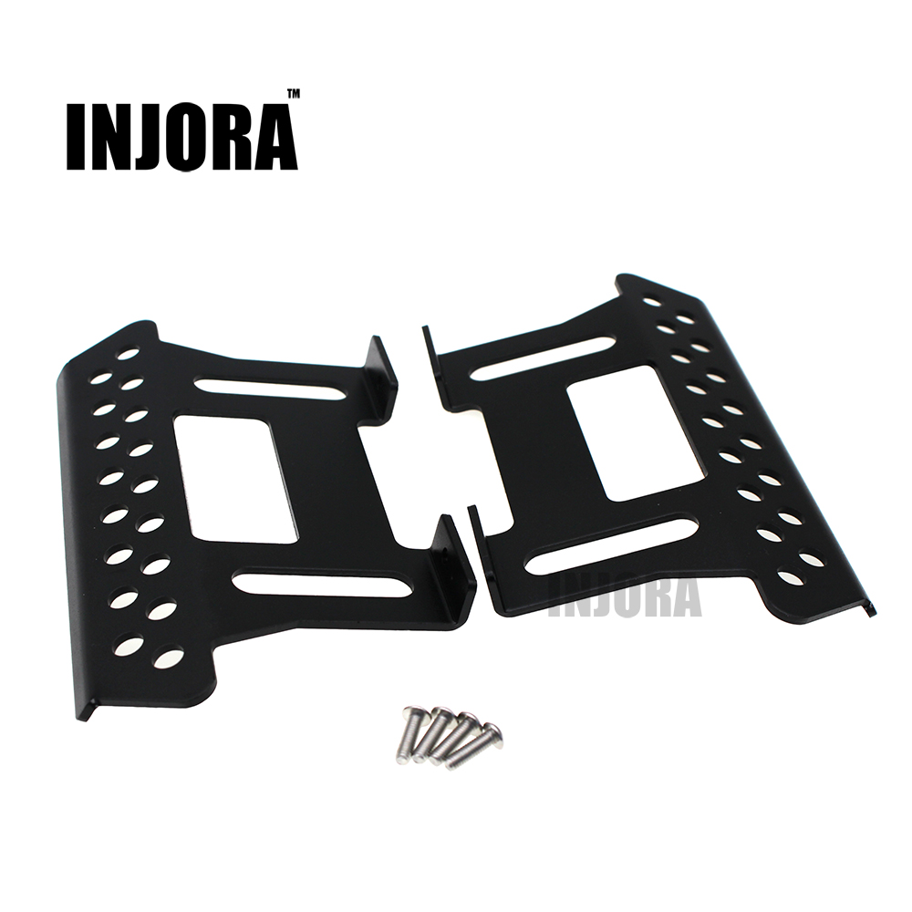 INJORA 2Pcs Metal Side Pedal Plate for 1/10 Axial SCX10 RC Crawler Car Parts injora new rc car interior decoration for 1 10 axial scx10 ii 90046 90047 cherokee body car shell