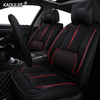 KADULEE Auto FLAX car seat cover For skoda karoq dodge ram 1500 suzuki ignis citroen c4 grand picasso ford explorer car seats