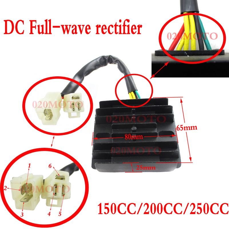 Zongshen Loncin Lifan 250cc Dc Full Wave Rectifier 150cc 200cc Motorcycle Dirt Bike Atv Quad