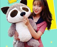 big lovely plush raccoon toy stuffed creative raccoon doll gift about 75cm