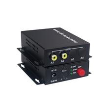 2 áudio sobre fc extensor de fibra óptica (uma maneira) transmissor e receptor, para o sistema de transmissão de áudio interfone (tx/rx) kit