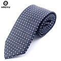Связей для мужчин-dot полосатый гладкий жаккард классический шелковый полиэстер человека бизнес класс рулевой Corbatas свободного покроя галстук Cravate