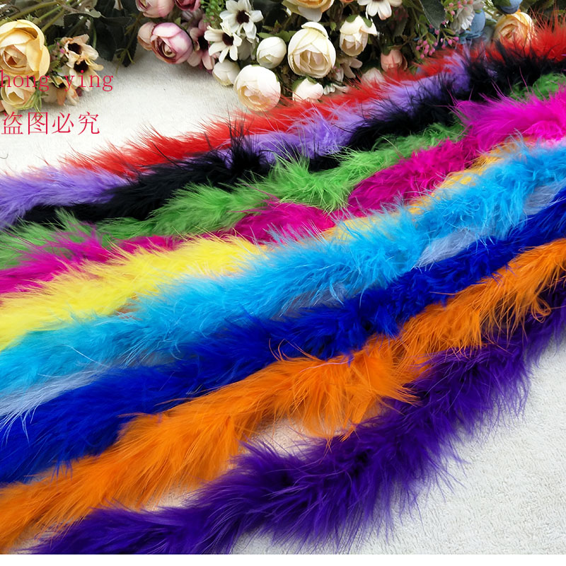 1 pcs 200 cm/2 meters turkey feathers chicken Feather Strip Turkey Feather Boa for wedding decoration birthday party