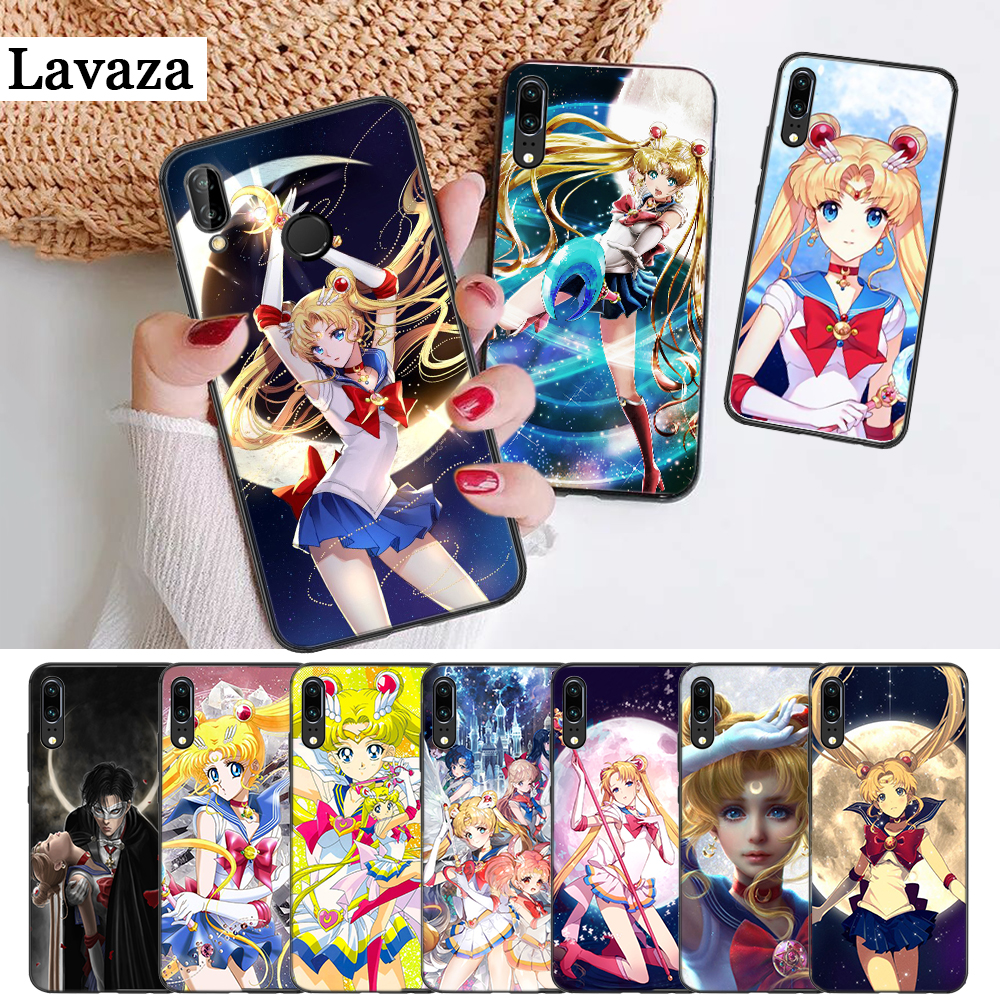 Half-wrapped Case Selfless Lavaza Girl Sailor Moon Anime Smart Silicone Case For Huawei P8 Lite 2015 2017 P9 2016 Mimi P10 P20 Pro P Smart 2019 Finely Processed