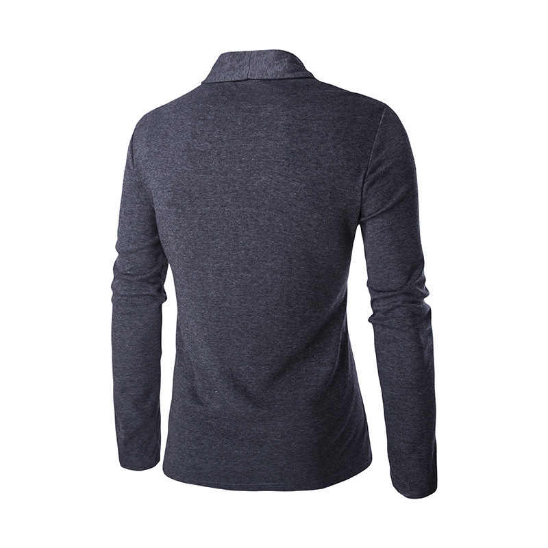 2019 Autumn Men's Sweater Cardigans Male Slim Fit Long Sleeve knitted cardigan Black Gray Casual Mens Sweaters Knitwear M 2XL