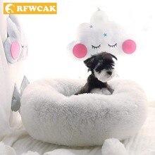 RFWCAK Depth Sleep Pet Dog Bed Warm Cama House Mat Sofa Donut Nest Baskets For WinterSmall Kennel Puppy Cat Supplies