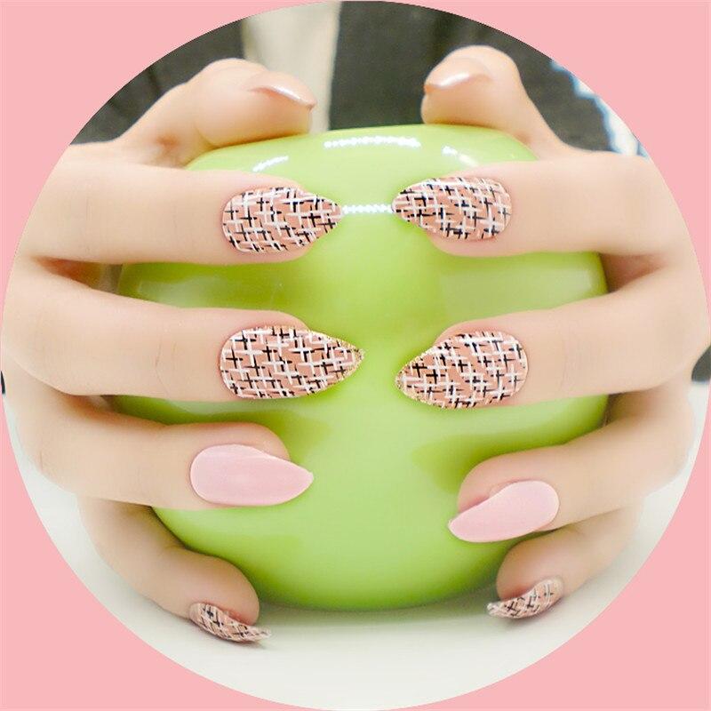 24psc Nueva Fake Nail Art Puntas de Cada Paquete de Diseño de Moda ...