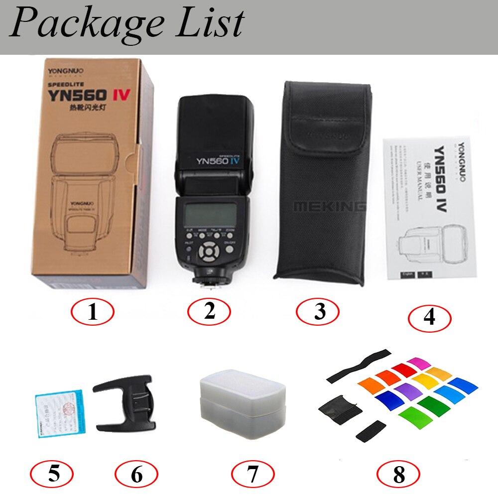 Yongnuo YN-560 IV YN560IV YN560 IV Universel Sans Fil Flash Speedlite Pour Canon Nikon Pentax Olympus Fujifilm Panasonic Sony A99 - 6