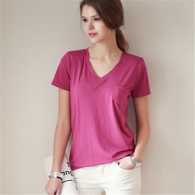 Iricheraf женская футболка Топы корректирующие Корейская одежда летняя мода короткий рукав женская футболка с v-образным вырезом свободные фут...