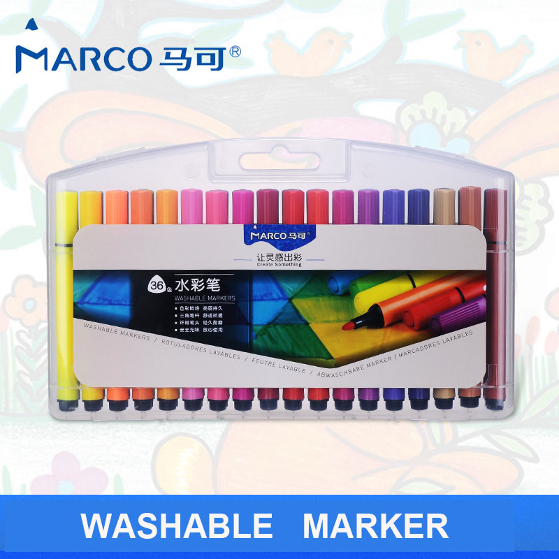 marco children's art set washable watercolors colored markers fine point water based drawing pen graffiti paint aquarel marker parker 88 maroon lacquer gt fine point fountain pen