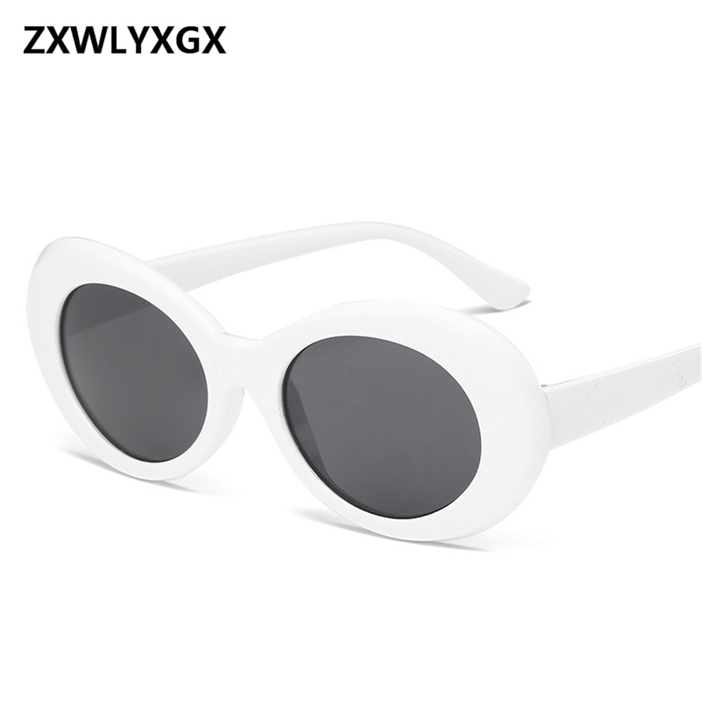 ZXWLYXGX Women Oval Sunglasses Fashion Men Vintage Glasses Translucent Lenses UV400