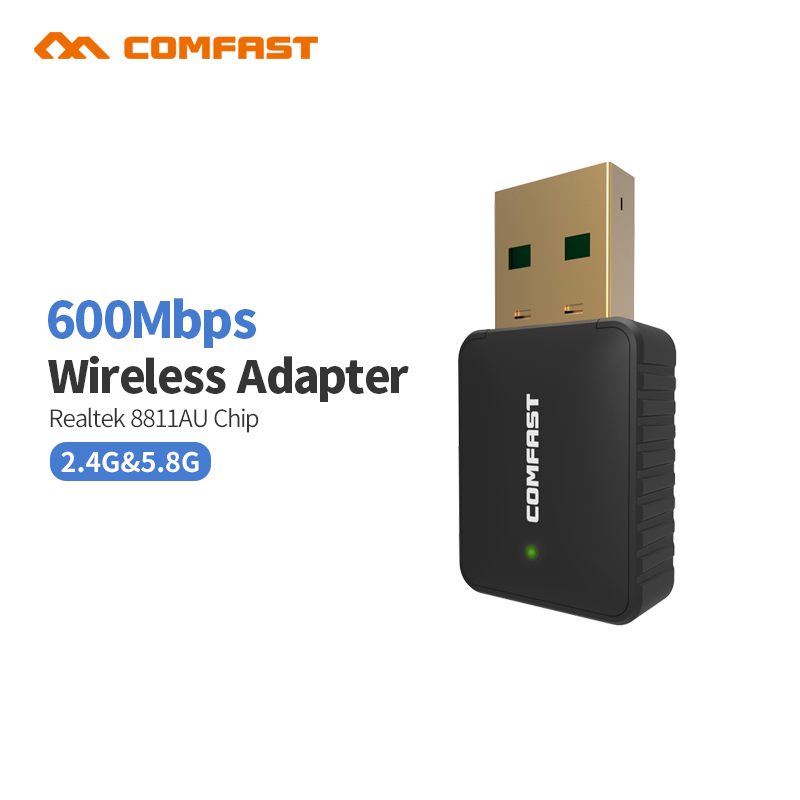 2018 Comfast CF-915AC 600M AC USB 5Ghz Wireless AC600 Dual Band 802.11ac antena wifi 2dBI Adapter Comfast Wi-fi Network LAN Card