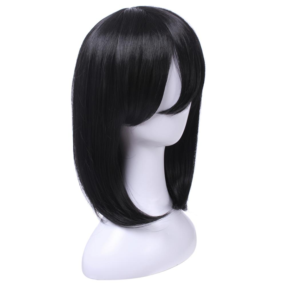 Image 2 - L email wig Mikasa Ackerman Cosplay Wigs Attack on Titan Cosplay Black Straight Wig Heat Resistant Synthetic Hair Perucas-in Synthetic None-Lace  Wigs from Hair Extensions & Wigs