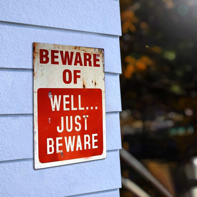 Beware of Patterned Metal Vintage Plaque