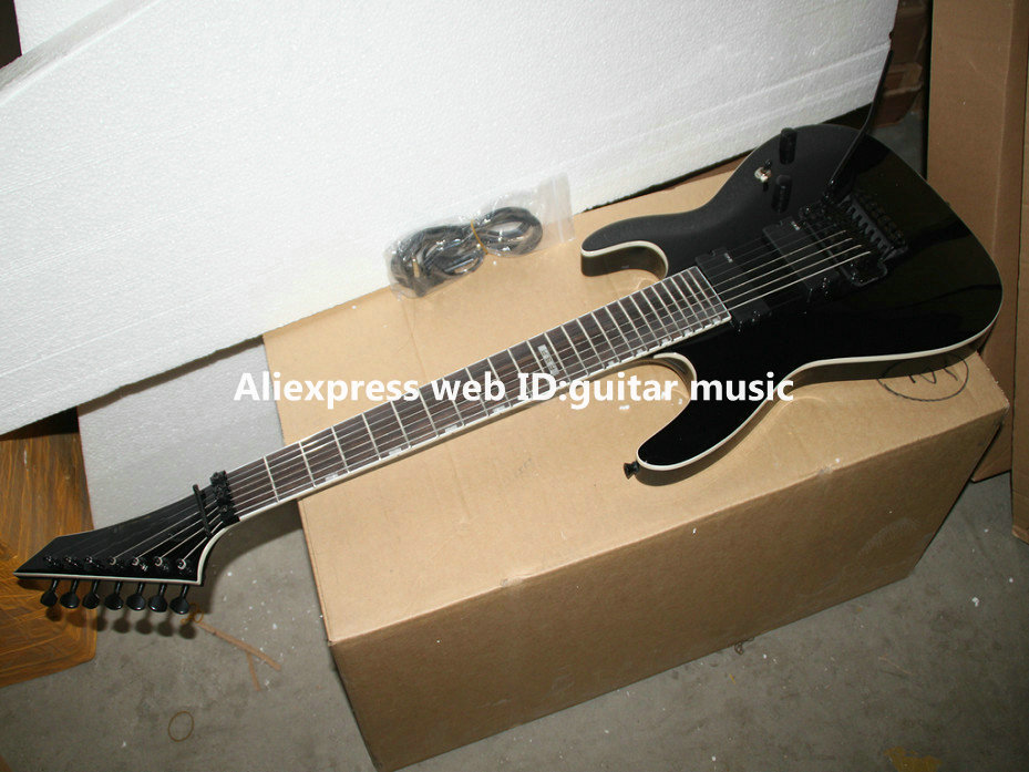 black custom shop 7 strings electric guitar high quality wholesale guitars best in guitar from. Black Bedroom Furniture Sets. Home Design Ideas