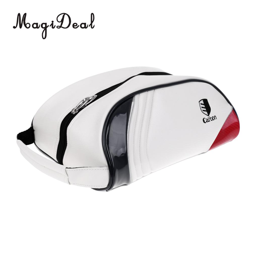 MagiDeal Golf Shoe Bag Case Zipped Sports Shoes Bag Waterproof