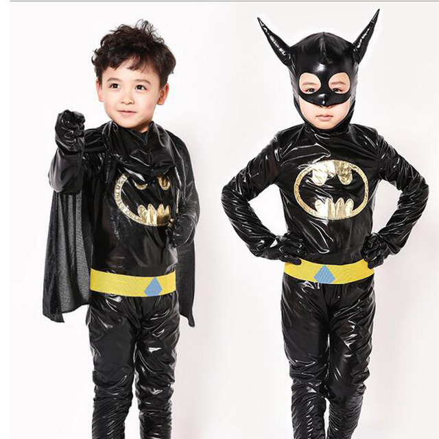 Boys Batman Costume Superhero Halloween Fantasia Christmas Carnival Anime Cosplay Clothes Fancy Dress For Kids Children
