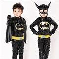 Meninos Traje Batman Superhero Fantasia de Halloween Natal Carnaval Anime Roupas Cosplay do Vestido Extravagante Para Crianças dos miúdos