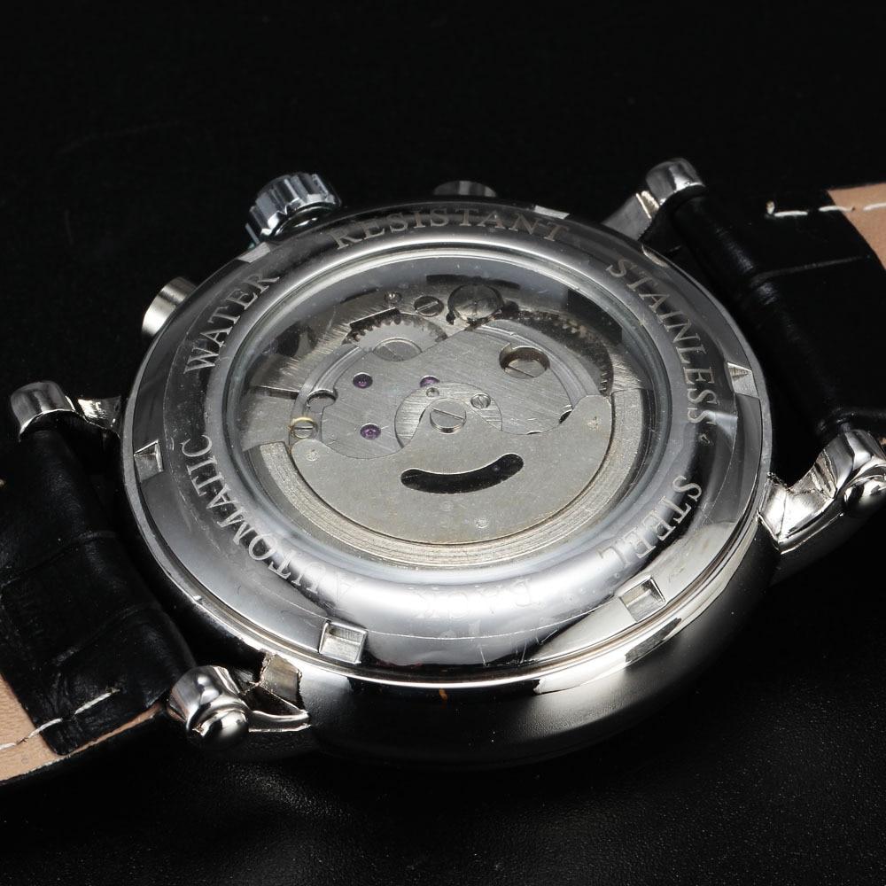 Nueva JARAGAR Moda Mecánica Automática Vestido de Hombre Relojes - Relojes para hombres - foto 5