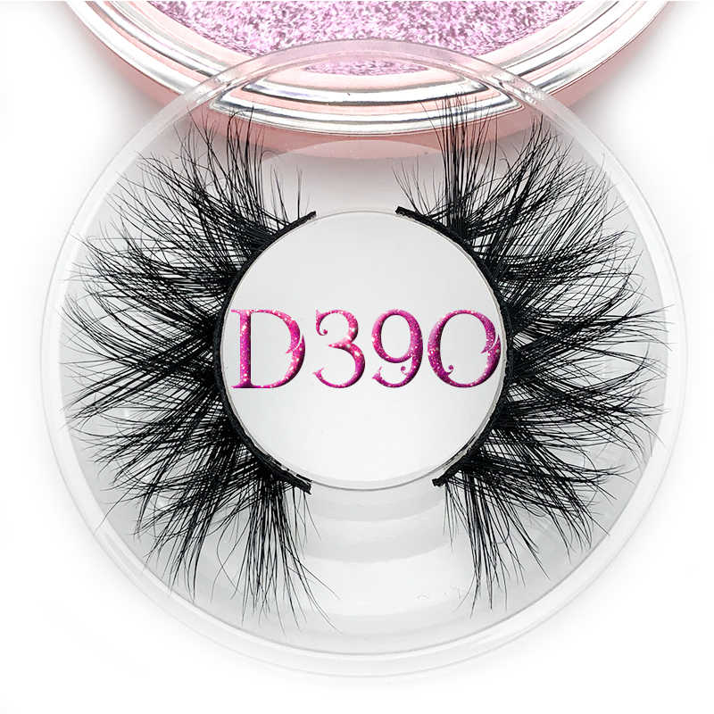 Mikiwi D390 Mink Eyelashes 3D Mink Lashes Thick HandMade Full Strip Lashes Cruelty Free Luxury Makeup Dramatic Lashes