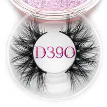 Mikiwi D390 Mink Eyelashes 3D Mink Lashes หนา HandMade Full Strip Lashes ความโหดร้ายฟรี Luxury Makeup Dramatic Lashes(China)