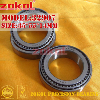 ZOKOL bearing 32907 2007907E Tapered Roller Bearing 35*55*14mm zokol bearing 23088ca w33 spherical roller bearing 3053188hk self aligning roller bearing 440 650 157mm