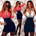 Nueva Mujeres Sexy V-cuello de Bodycon Del Vendaje Del Vestido de Noche Del Partido Del Mini Vestido Del Club de La Cremallera Otoño Invierno vestidos