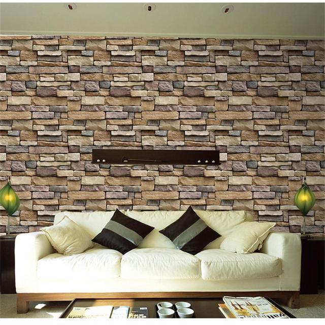 45 Cm * 10 Mt Selbstklebende Dicker Stein Wandtapete Für Küche Bad Home  Decor 3D Wandaufkleber