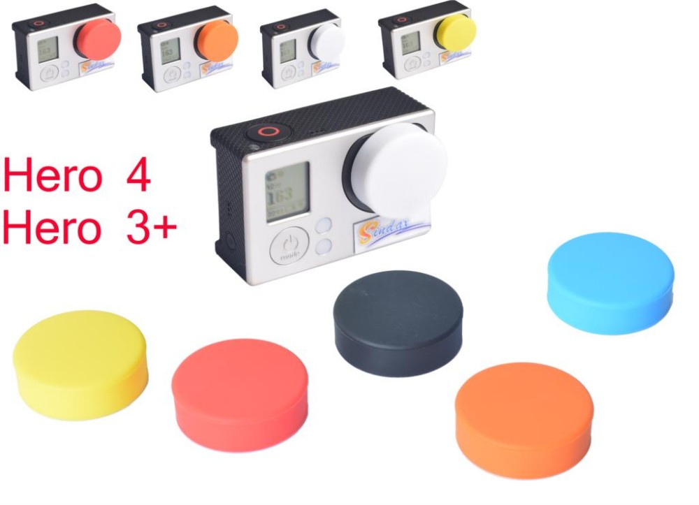Lens Cover Cap Accessories Silicone Protective Lens Cap Cover for Gopro Hero 4 3+ Xiaomi Yi yi 4k Action Camera