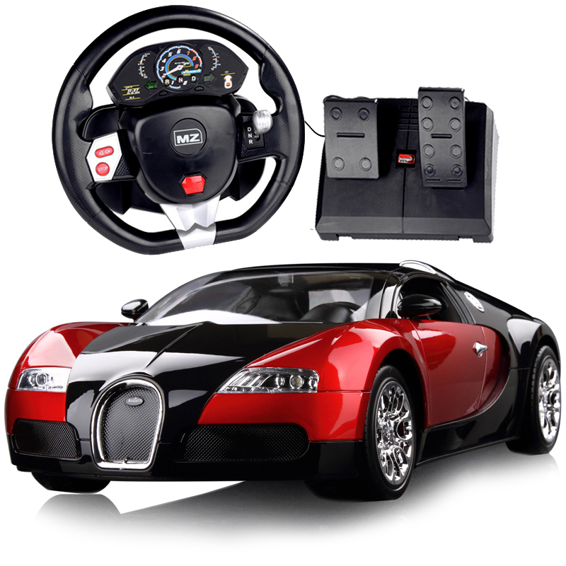 meizhi bugatti veyron volant voiture t l command e grande d rive de charge enfants jouet mod le. Black Bedroom Furniture Sets. Home Design Ideas